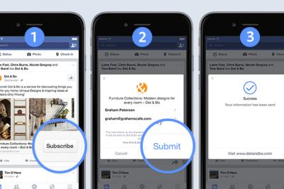 Facebook propose aux annonceurs de recruter des profils à partir de l'application.Source : Facebook.com
