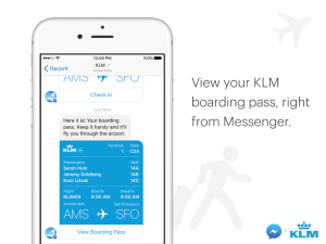 KLM Facebook Messenger
