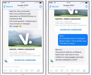 facebook messenger sncf